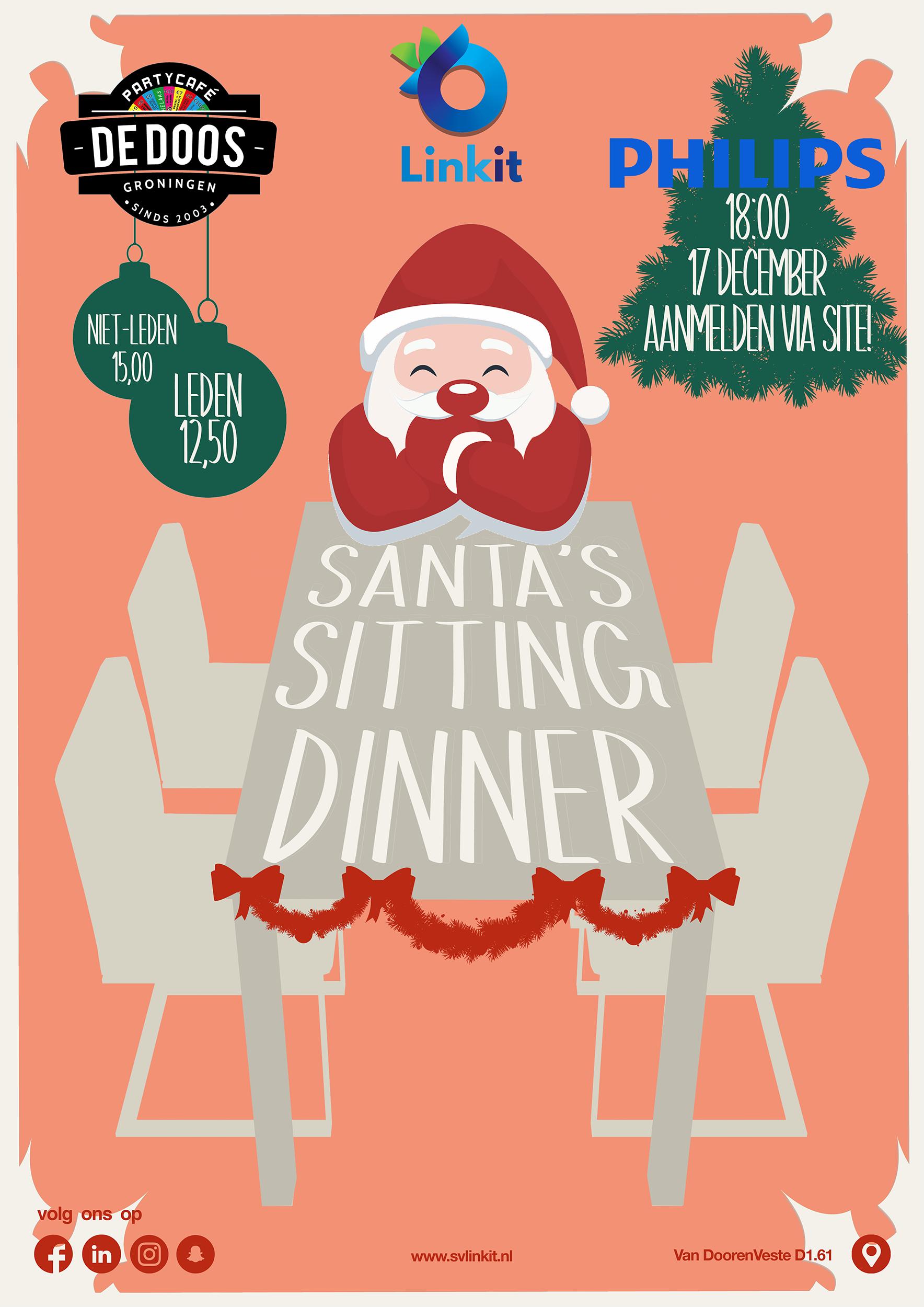 Poster Santa's Sitting Dinner