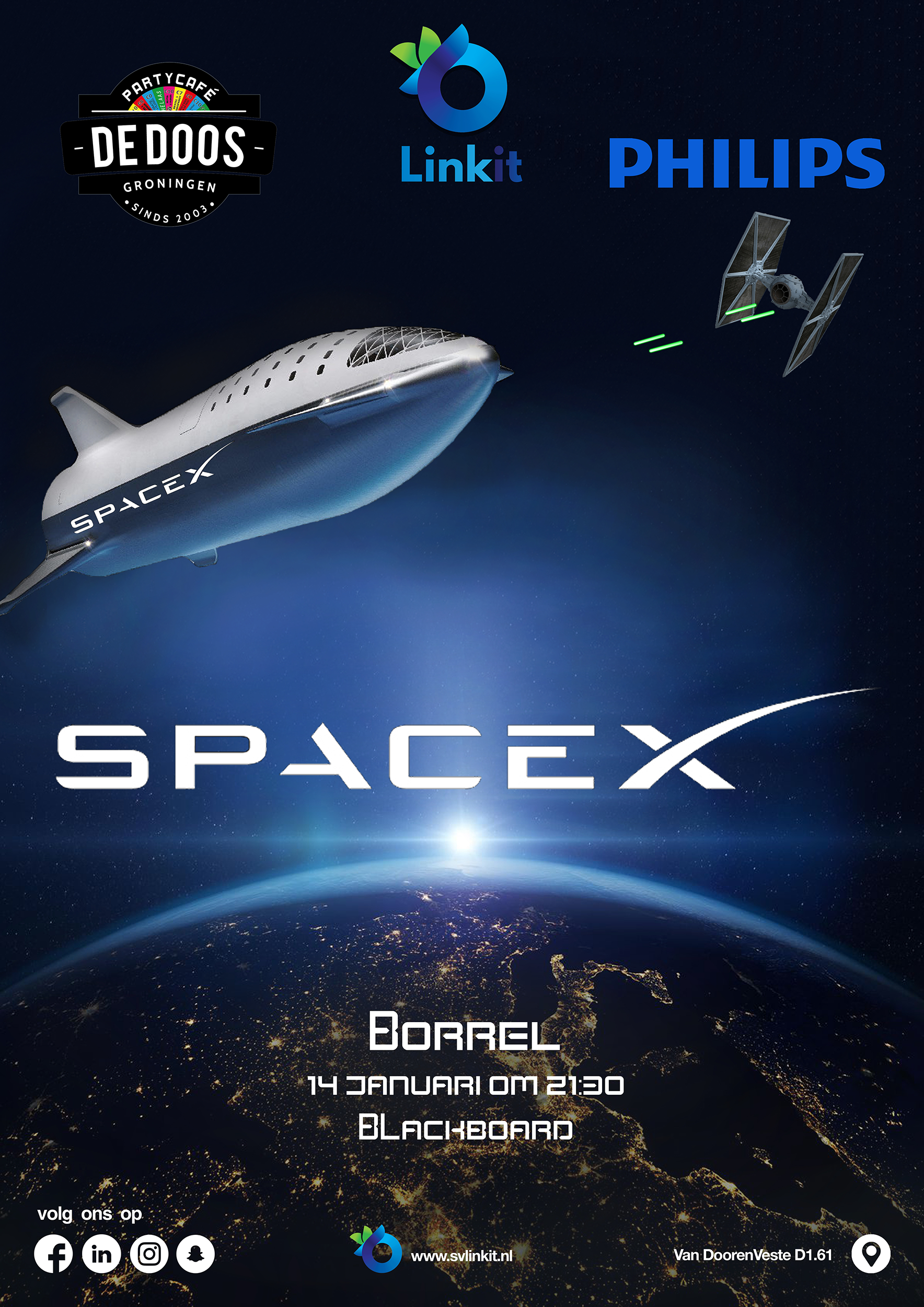 Poster SpaceX borrel