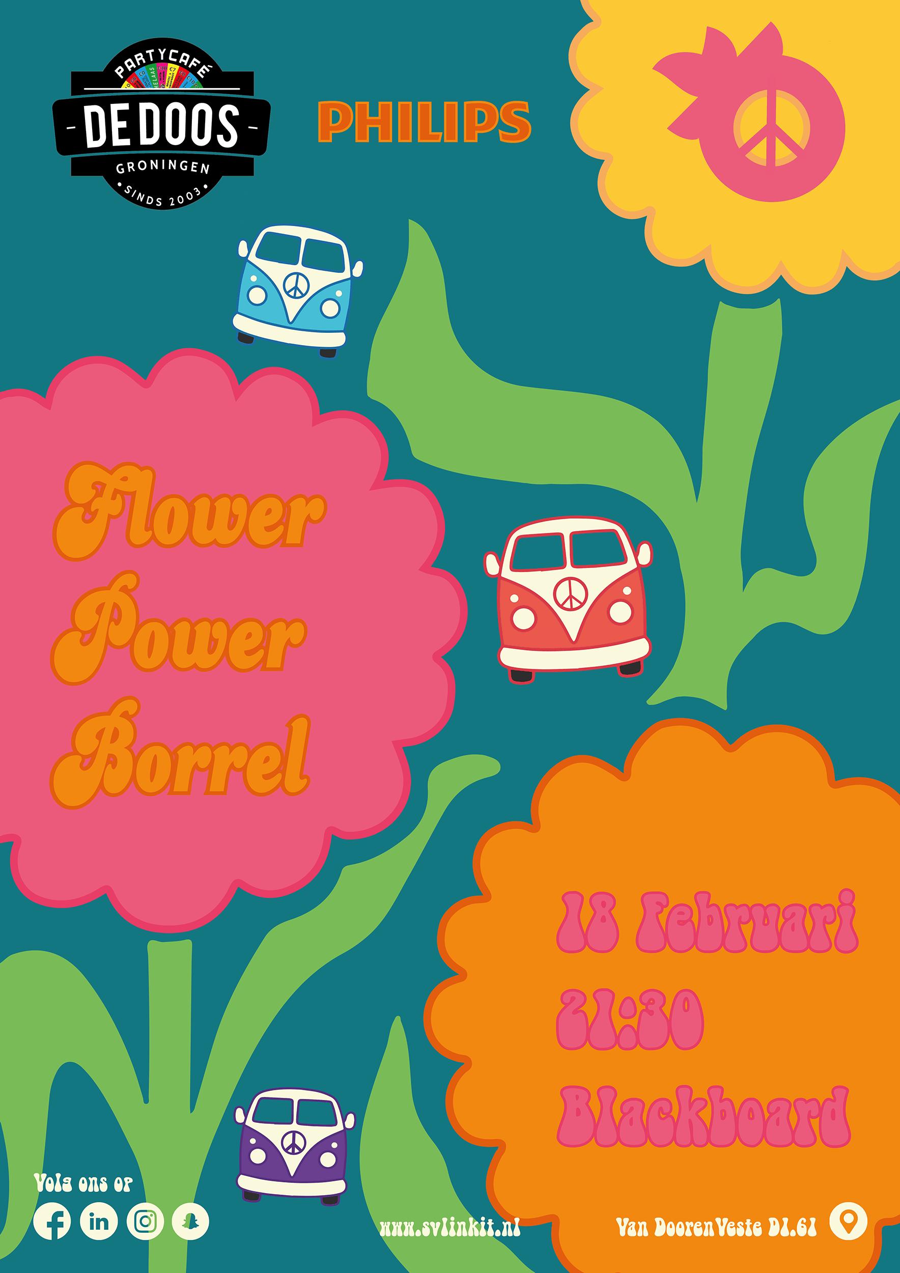 Poster Flower Power Borrel